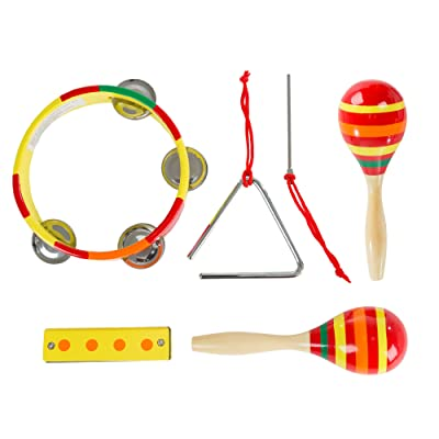 Hey! Play! Kids Percussion Musical Instruments Toy Set: Toys & Games
