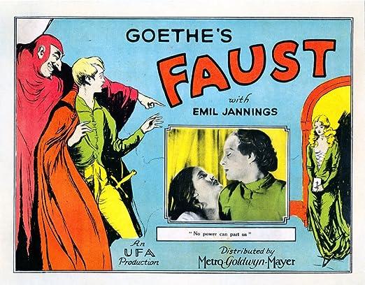 Amazon.com: Posterazzi EVCMCDFAUSEC027H Eine Deutsche Volkssage Aka Faust:  A German Folk Legend from Left Camilla Horn Gosta Ekman 1926 Movie Poster  Masterprint, 14 x 11, Varies: Posters & Prints
