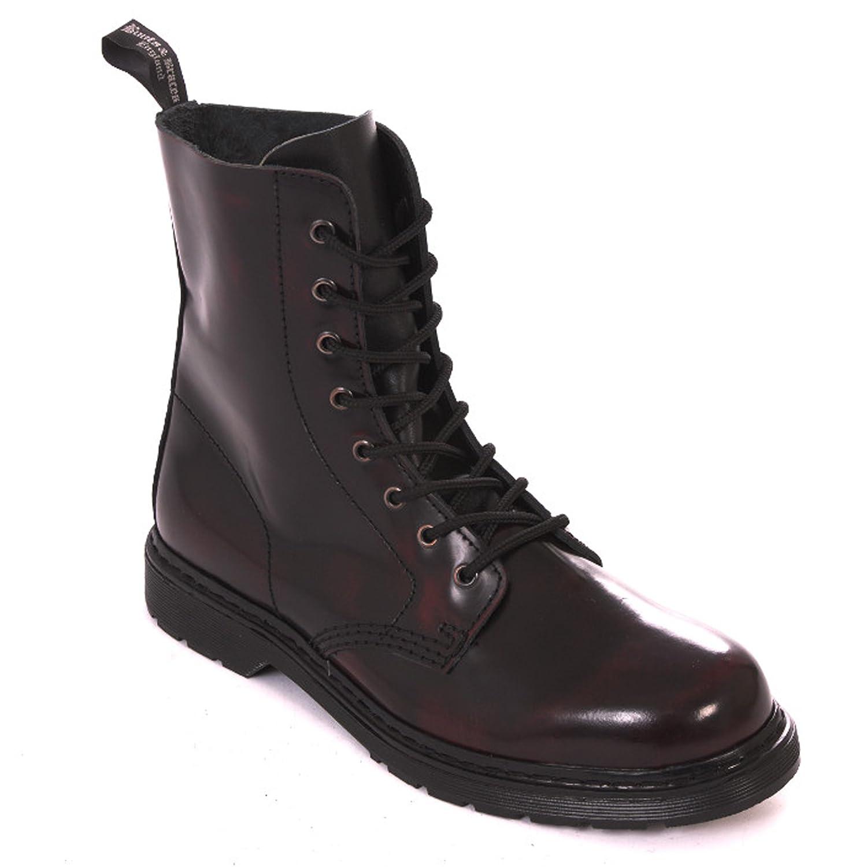 Stiefel & Braces Braces Braces - Easy 8 Loch Burgundy Stiefel Rangers Rot Springer Made in EU 706dad