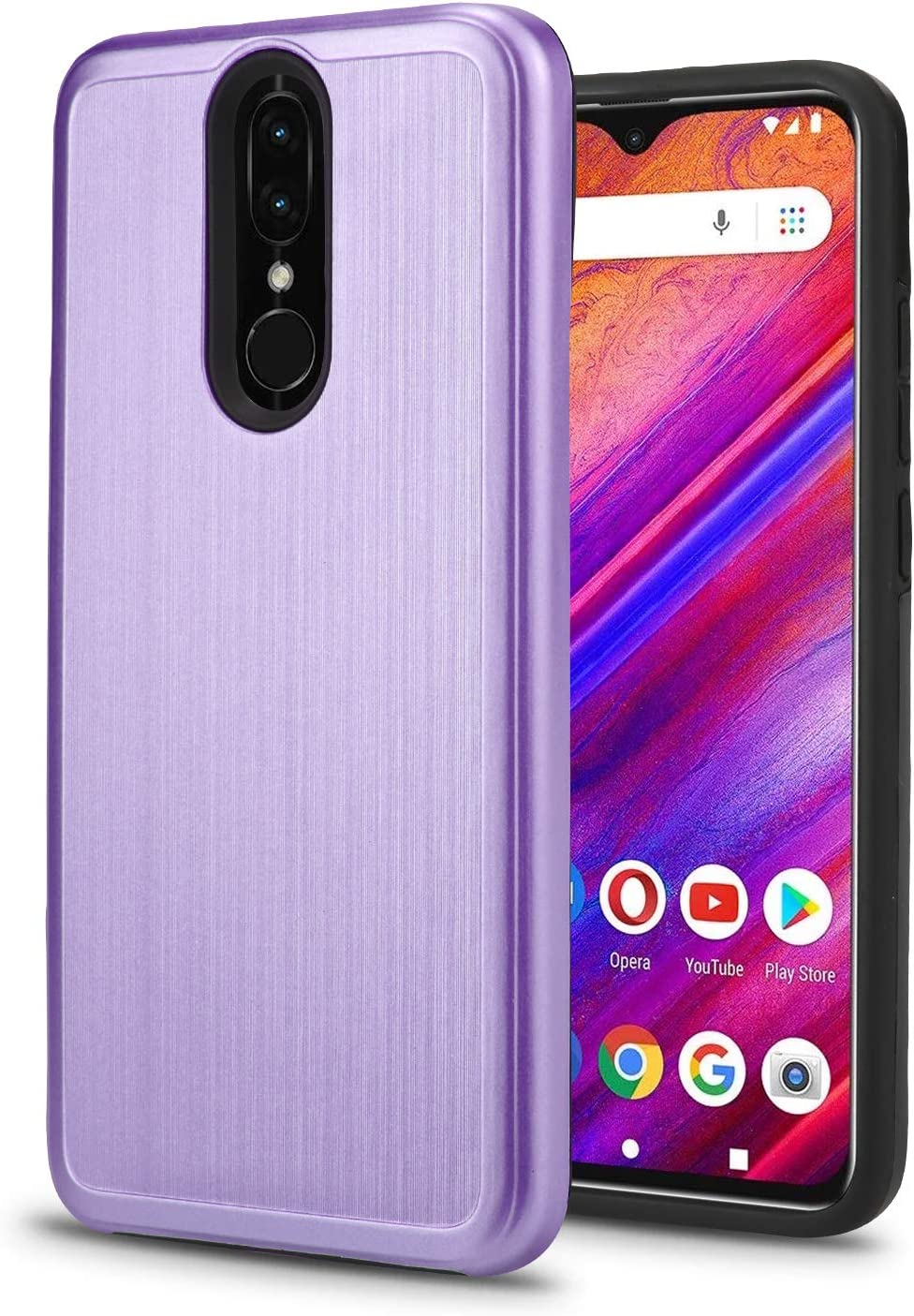 "New Frontier Slim Case for BLU G9 – 6.3"" HD Infinity Display Smartphone Shockproof Absorption Anti Scratch High Impact Hybrid Protector Case (Purple)"