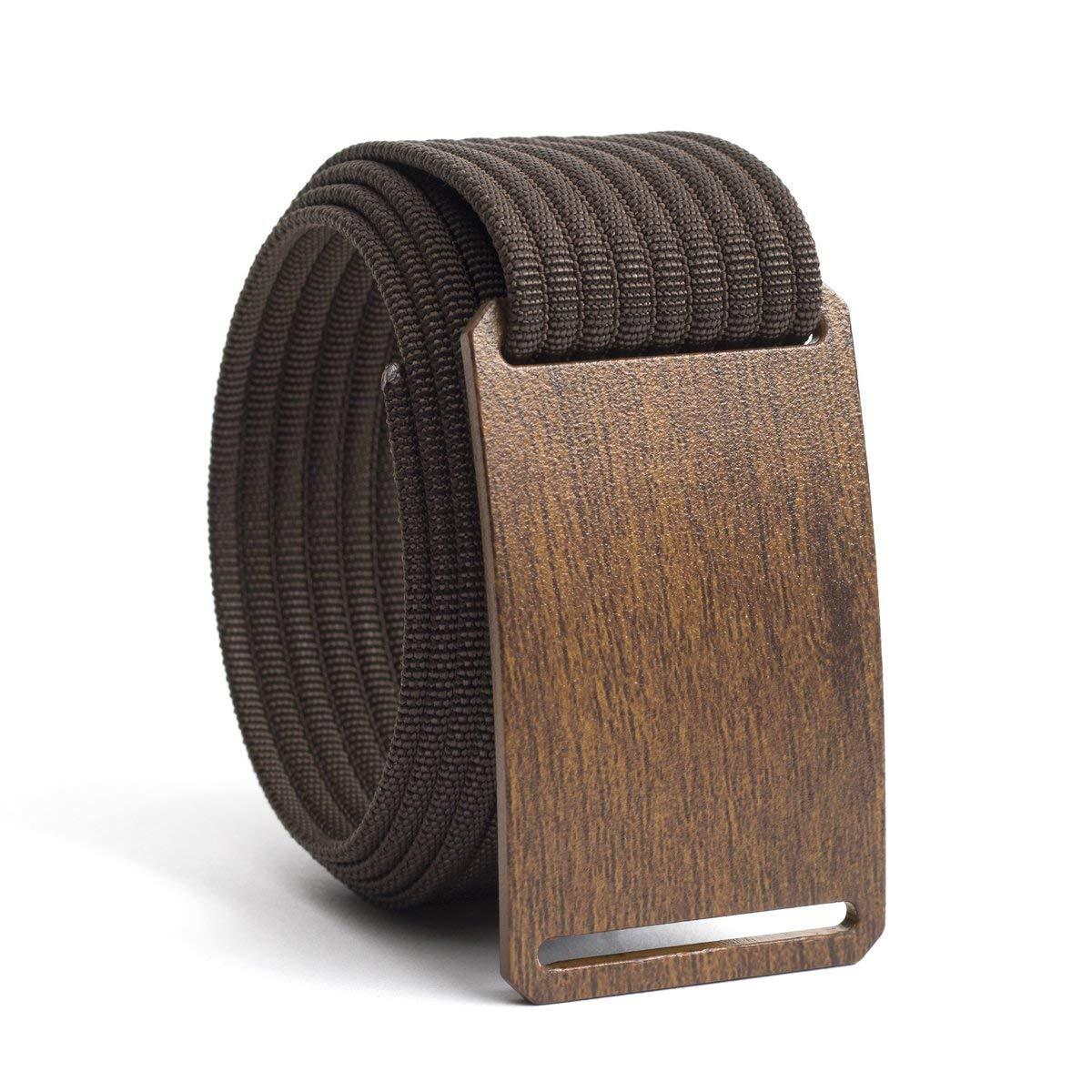 44 Inch Walnut Craftsman Men's Belt w/Mocha Strap