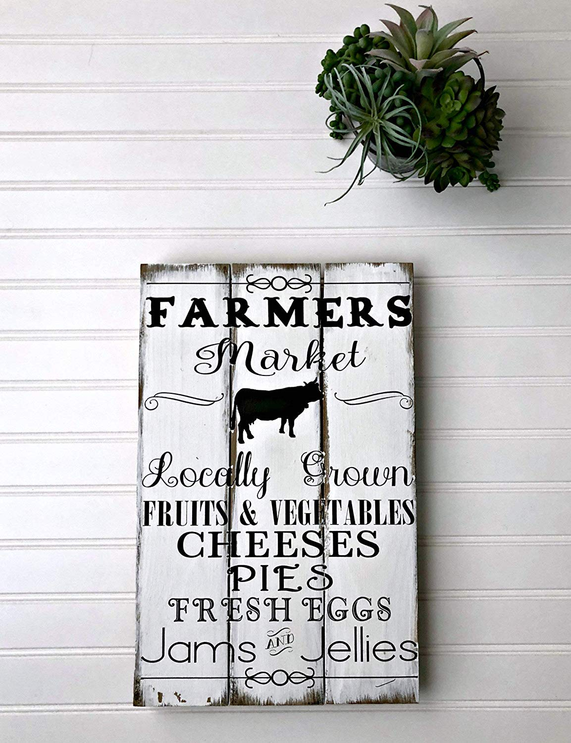 Amazon.com: 30×45cm Farmers – Cartel de Mercado rústico con ...
