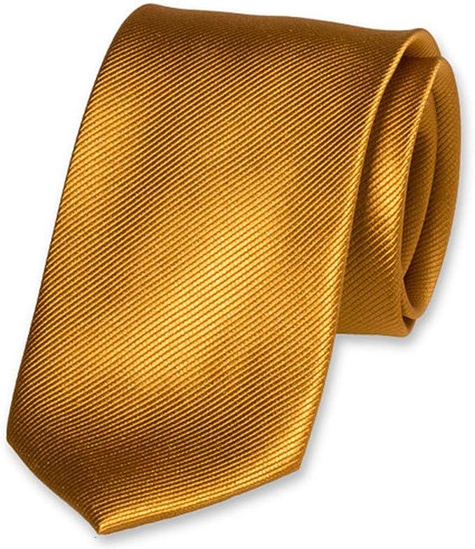 Accessoirespezialist.de Corbata amarilla de alta calidad – 100 ...
