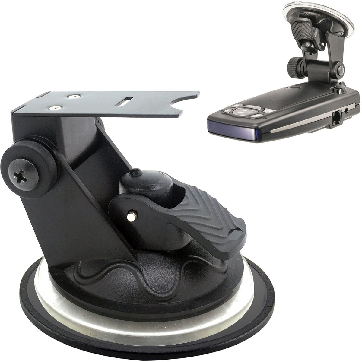 ChargerCity Car Dashboard & Windshield Suction Cup Mount Holder for Escort Passport 9500ix 9500i 8500 8500x50 S55 S75g Solo S2 S3 and Beltronics GX65 RX65 Vector 975 Radar Detectors ... by ChargerCity