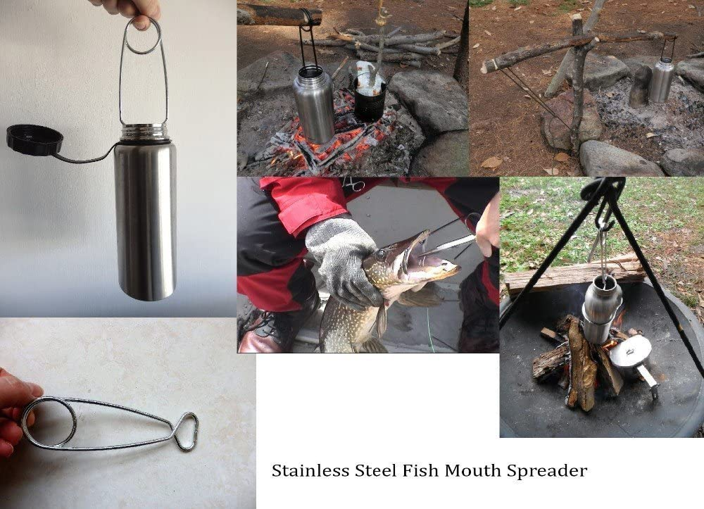 Portable Fish Mouth Spreader TOPIND Spring Steel Lightweight Gag...