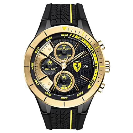 Scuderia Chronograph Black Dial Men's Watch-0830295
