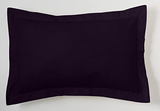 ESTELA - Funda de cojín Combi Lisos Color Negro - Medidas 50x75+5 ...