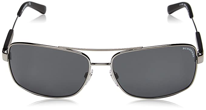 ff764e7d9511 Burberry Rectangular Sunglasses (Be3074 100387 63)  Amazon.in  Clothing    Accessories