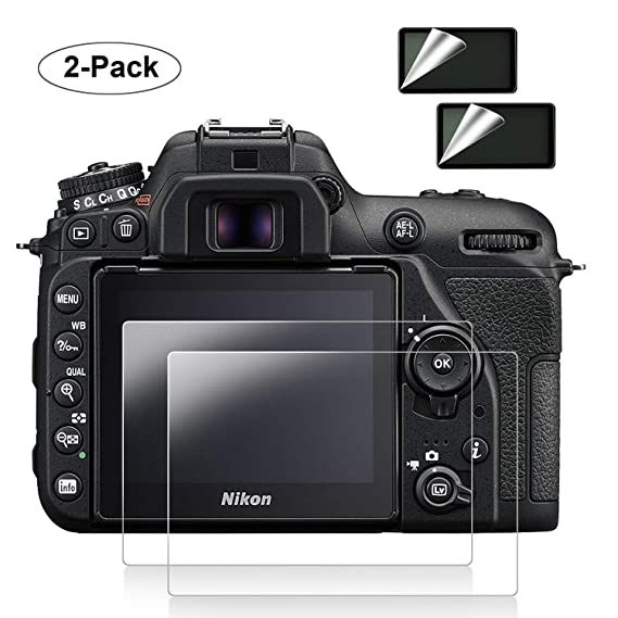 Nikon D7500 Screen Protector [2 Pack], POPANK 0 33mm Ultra-Thin LCD  Tempered Glass Screen Protector for DSLR Camera Nikon D7500 with [9H  Hardness]