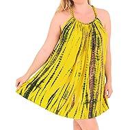 52a3da7e0f4ae LA LEELA Women s Bikini Swimsuit Cover Ups Tank Beach Marble Dress Tie Dye