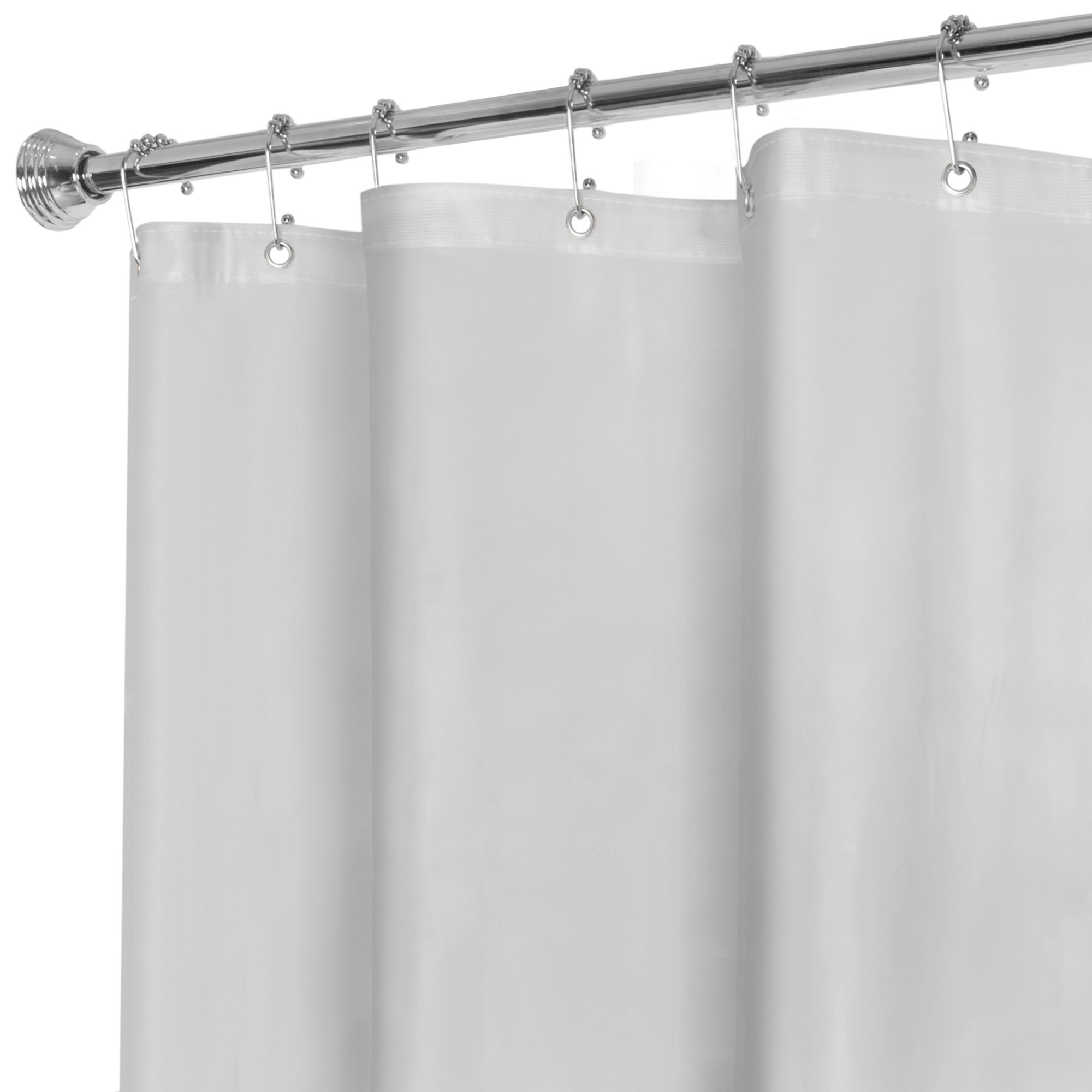 5dc77c84ac1fcb MAYTEX Super Heavyweight Premium 10 Gauge Shower Curtain Liner with  Rustproof Metal Grommets