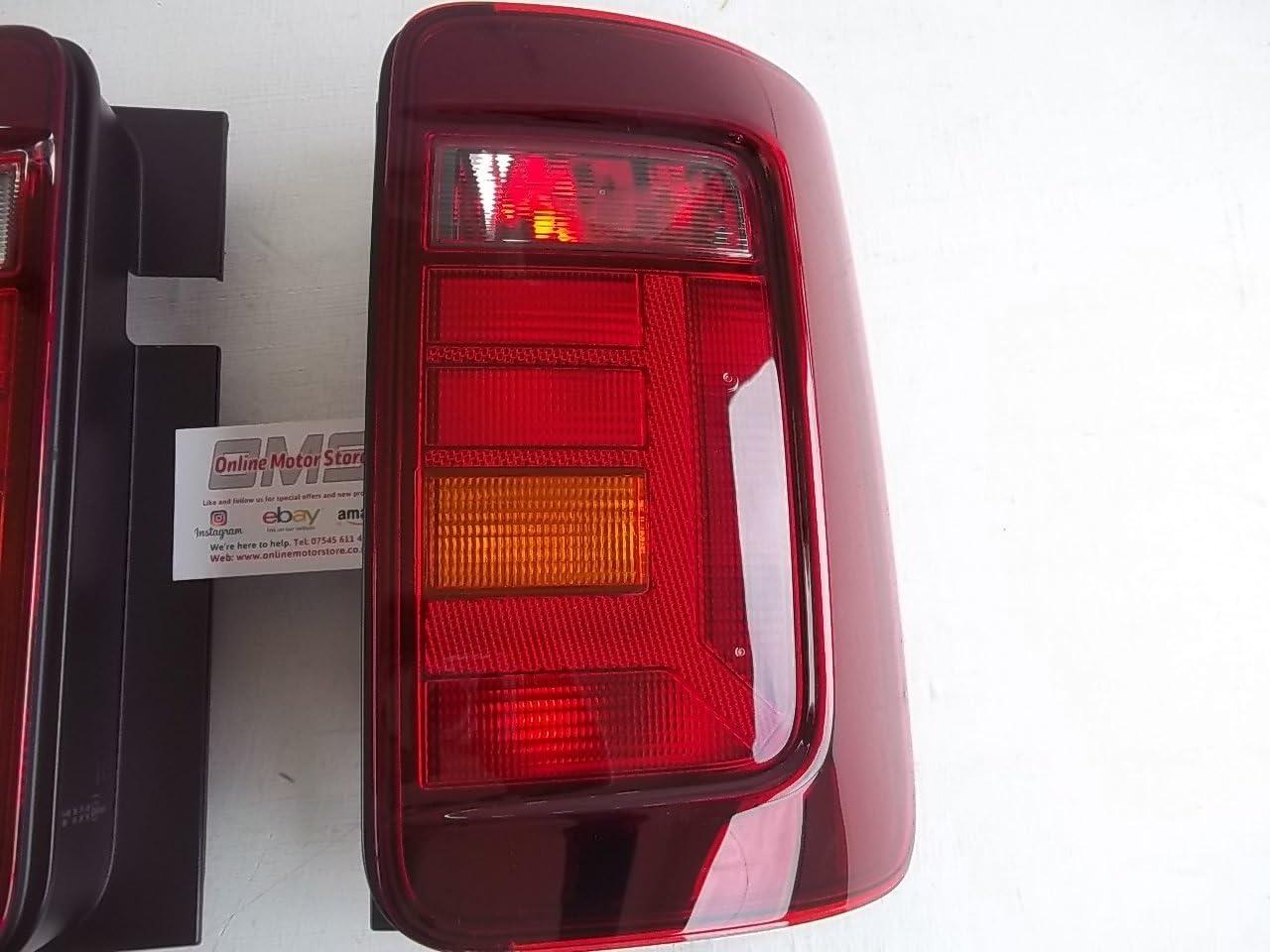 Bloc feu arri/ère pour VW Caddy 2015 verre fum/é teint/é /double porte arri/ère/