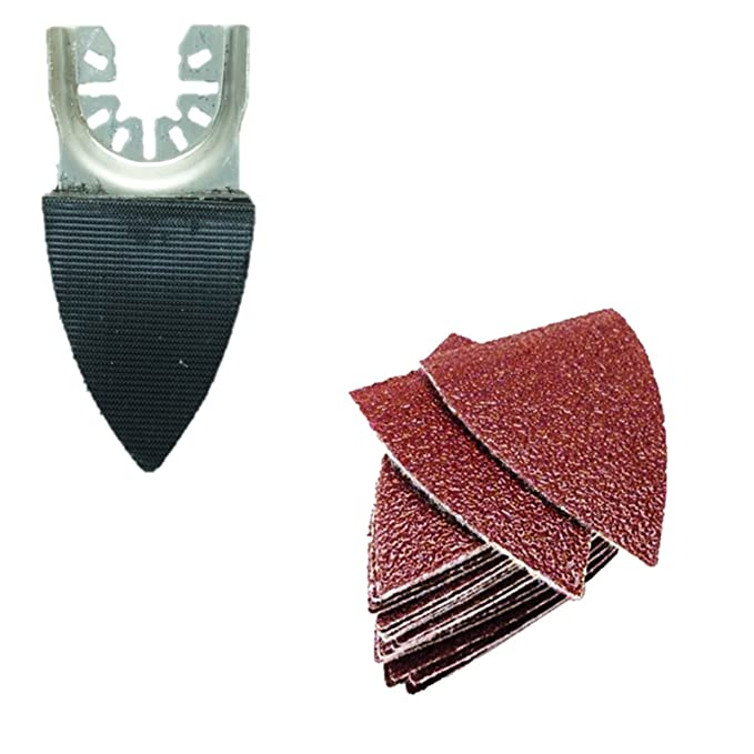 Makita Milwaukee Ryobi Worx Multi herramienta accesorios 1 x TopsTools FAFSP/_1 50 mm x 35 mm peque/ño Almohadilla de lijado para Dewalt Black and Decker Bosch Fein No-StarLock
