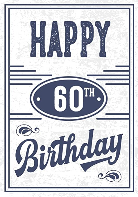 Happy 60th Birthday Gifts For Men Journal Notebook 60 Year Old