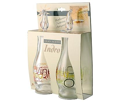 Borgonovo set olio aceto vetro mix accessori da cucina amazon