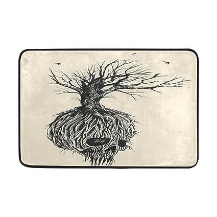 Amazon com: Custom Hand Drawn Sketch Fantastic Skull Welcome