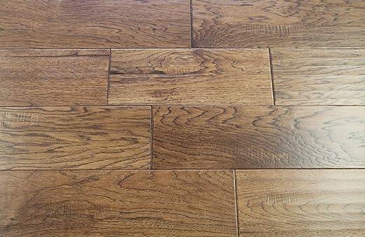 Elk Mountain Hickory Cast Iron 1//2 x 6-1//2 Hand Scraped Engineered Hardwood Flooring SAMPLE