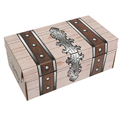 One Large Decorative Cardboard Treasure Chest Box Colors And Styles May Vary