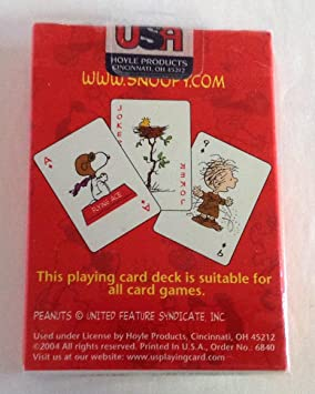 New Kurt Adler Peanuts Playing Cards