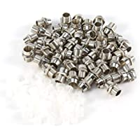 50 stuks Zilveren Kleur 5mm LED Houders Paneel Display Draad Mount Maat Bezel Clip Montage Paneel Display Houder voor…