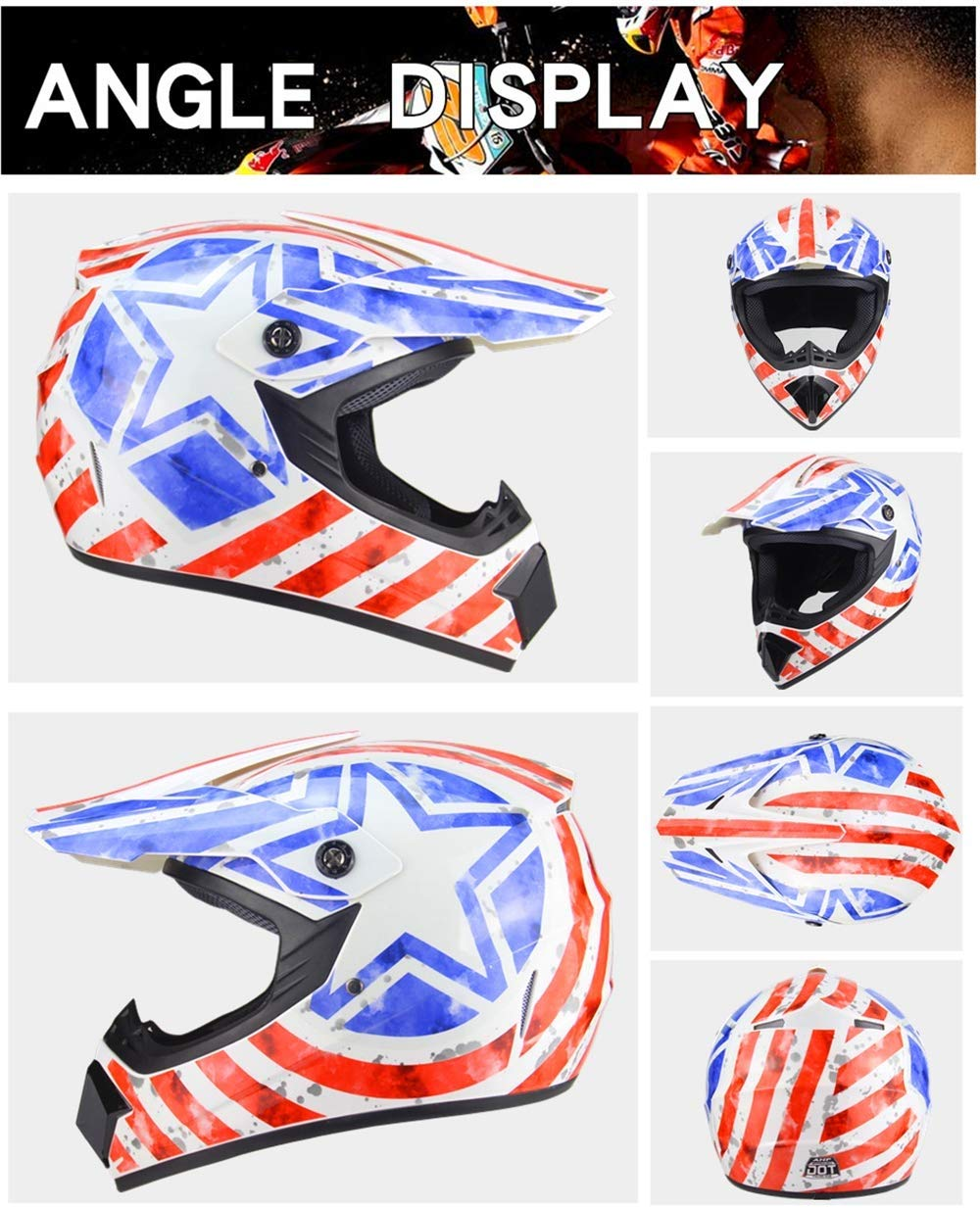 LS Helm Safe Full Face Classic Fahrrad MTB Dh Racing Helm Motocross Downhill Fahrradhelm Capacetes Motocross F/ür Erwachsene Jugend Junior Kinder Kinder,A,S