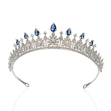 Gorgeous Sparkling Crystal Pearl Peacock Bridal Hair Accessories Tiara