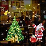 ウォールステッカー クリスマス ズ サンタ クロース クリスマスツリー シール 飾り 壁紙 剥がせる シール式 装飾 ツリー 壁紙 雑貨 ガラス 窓 DIY サンタ 部屋 店舗装飾