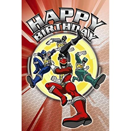 Amazon Power Rangers Greetings Card Happy Birthday Office