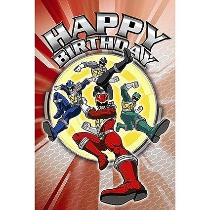happy birthday power rangers Amazon.: Power Rangers Greetings Card   Happy Birthday  happy birthday power rangers