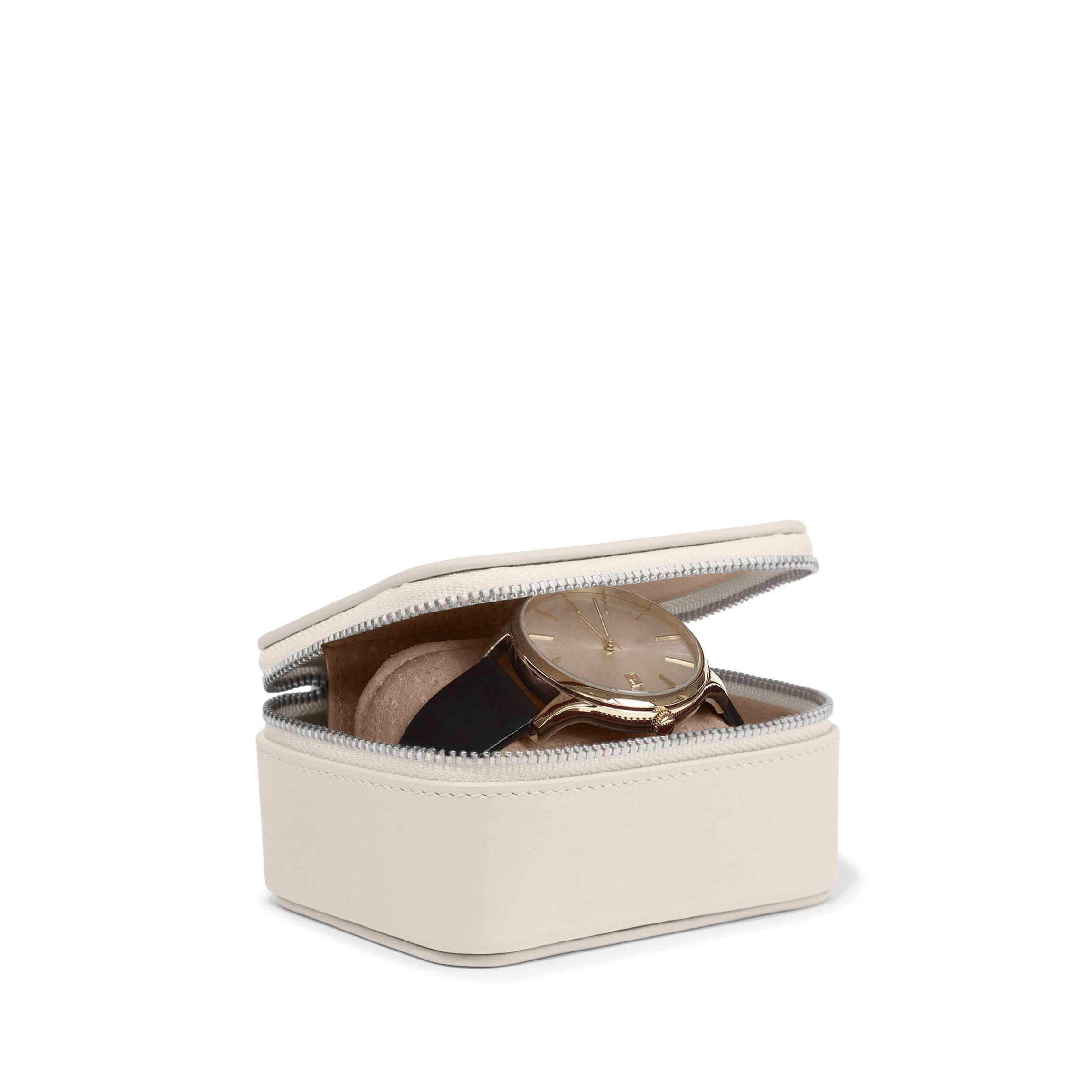 Leatherology Ivory Travel Watch Box by Leatherology