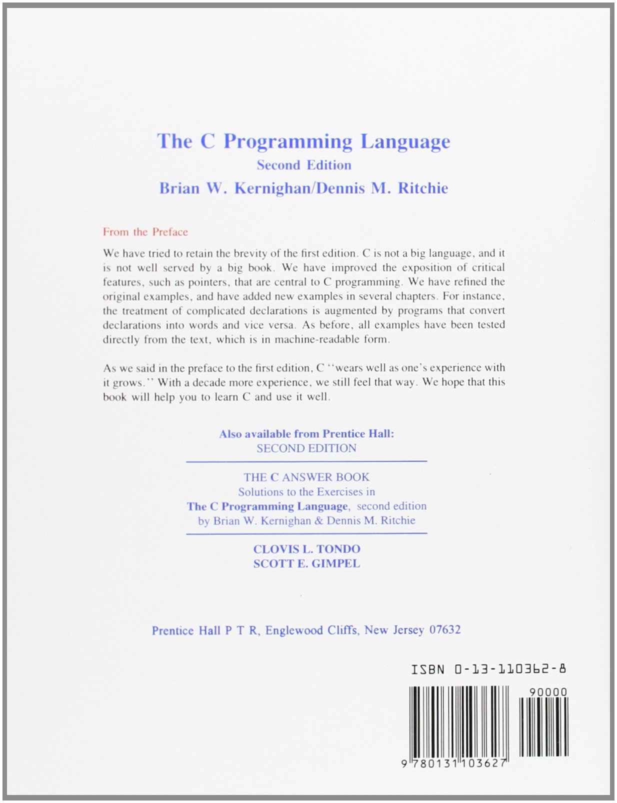 C Programming Language, 2nd Edition by imusti