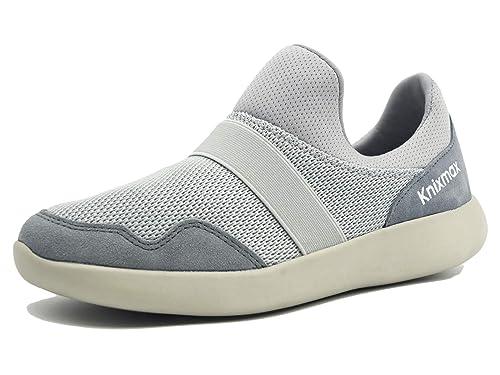 Knixmax-Zapatillas sin Cordones para Mujer,Zapatillas de Deportivo Sneakers Running Zapatillas de Malla Transpirable Zapatos para Correr Gimnasio Athletic ...