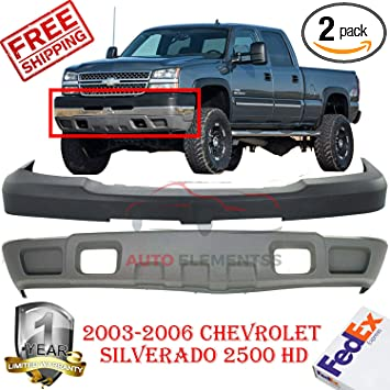 NEW Gray Lower Bumper Valance for 2003-2007 Chevy Silverado /& Avalanche w//o Fog