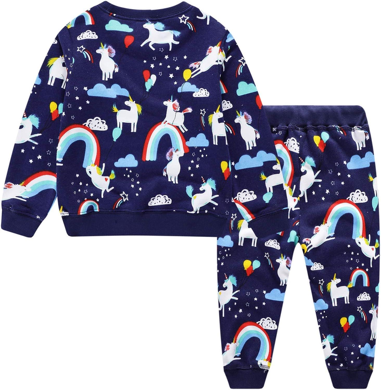 EU World Tuta Bambini Bambine Sportiva Cotone Autunno Inverno Stampa Scuola Maglieria Felpe Pantaloni Set Jogging Unisex Ragazzi Ragazze Abbigliamento Bambina Bambino 2 3 4 5 6 7 Anni