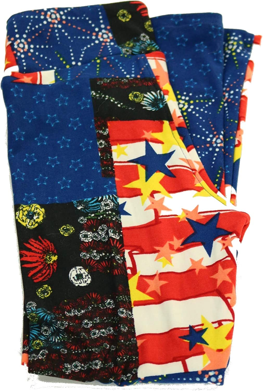 LuLaRoe Kids Leggings L//XL New Multicolor Blues /& Black Pattern Design BoxDD