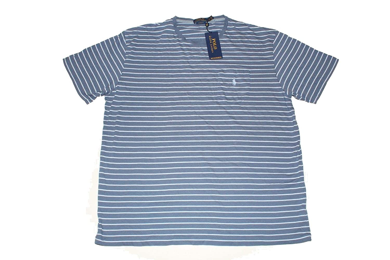 Classic T Pocket Ralph Polo Lauren Men's Striped Fit Shirtlight H2IW9EDY