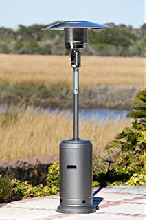Fire Sense 46,000 BTU [XL Series] Hammered Silver/Pewter Patio Heater With