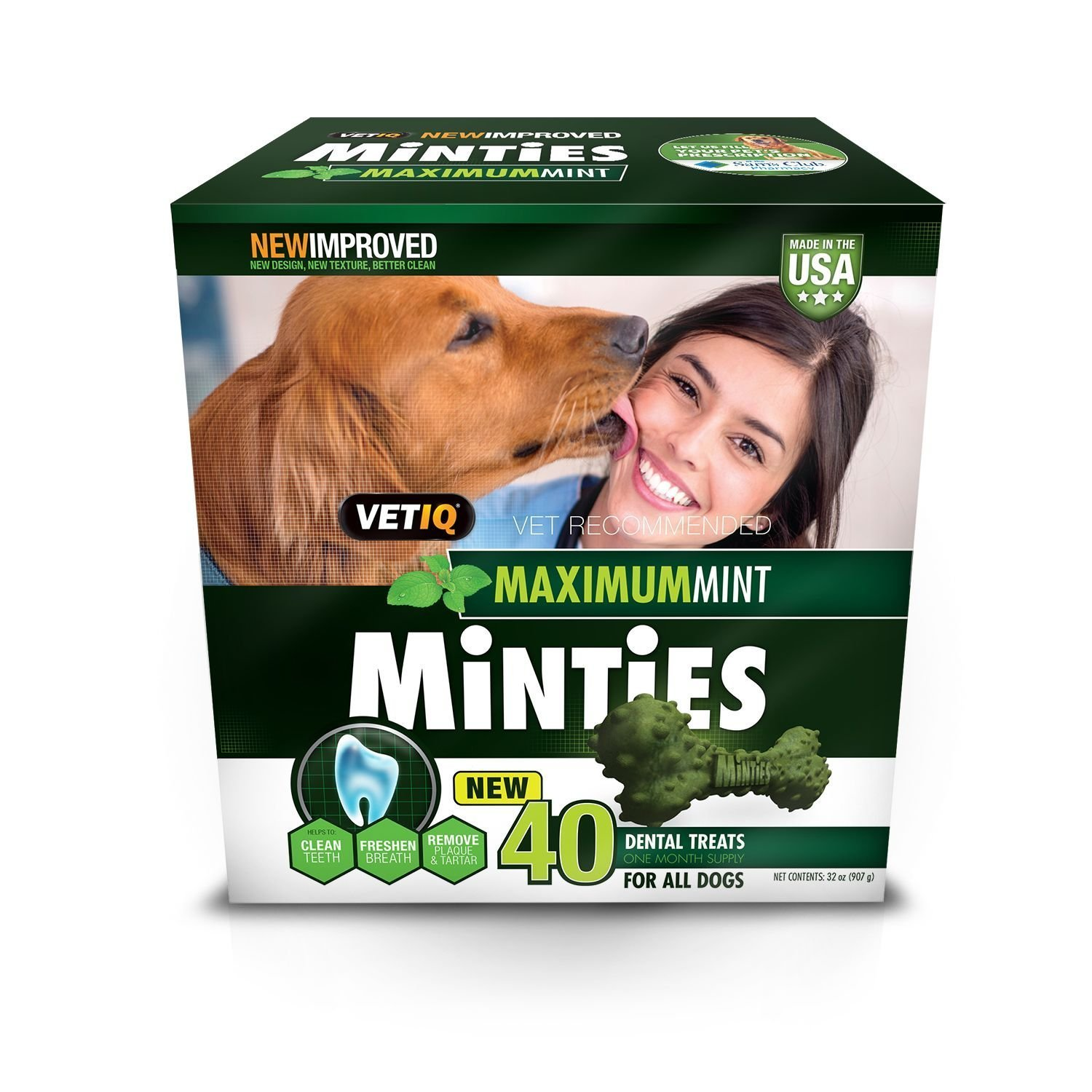 All dogs Minties Dental Dog Treats (40 ct.)