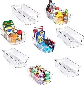 Refrigerator Pantry Organizer (8-Piece, Transparent)