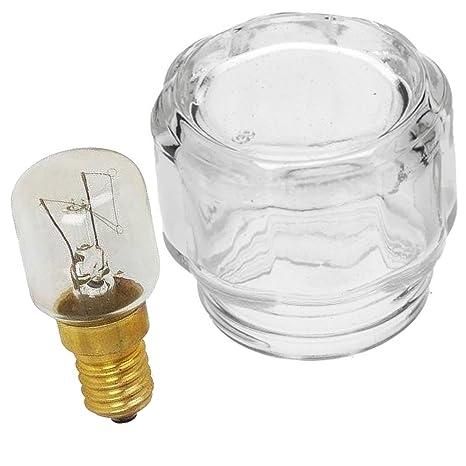 Spares2go cristal lámpara cubierta de lente + 25 W bombilla para ...