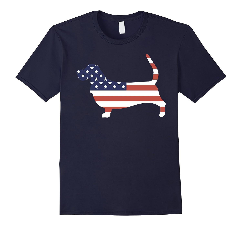 Basset Hound tshirt, Patriotic Basset Hound-FL