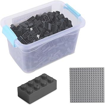 Oferta amazon: Katara Juego De 520 Ladrillos Creativos En Caja Con Placa De Construcción 100% Compatibles Con Lego Classic, Sluban, Papimax, Q-bricks, Gris Oscuro (1827) , color/modelo surtido