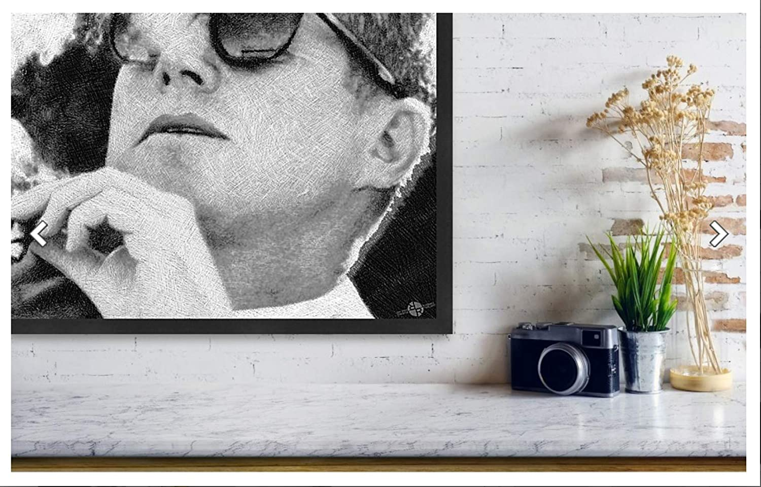 Amazon.com: JFK - Gafas de sol, color blanco y negro (7.9 x ...