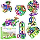 Desire Deluxe Bloques de Construcción Magnéticos Infantiles - Juego Creativo Educativo de 94 Piezas de Formas…