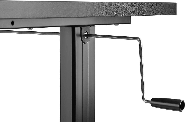 Derby Economical Manual Sit-Stand Desk Black