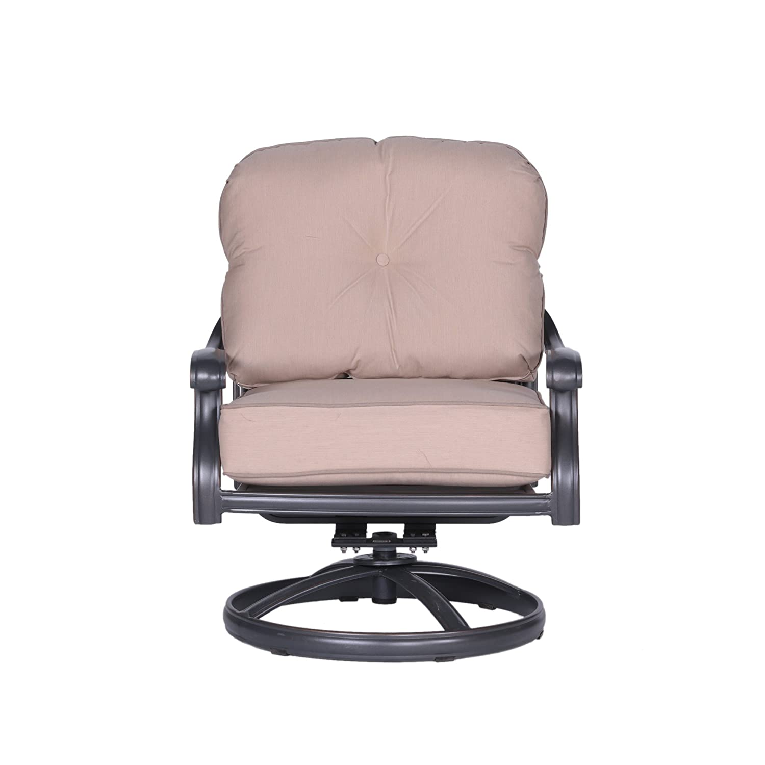 Cool Amazon Com Ipatio Athens Club Swivel Chair With Cushion Alphanode Cool Chair Designs And Ideas Alphanodeonline