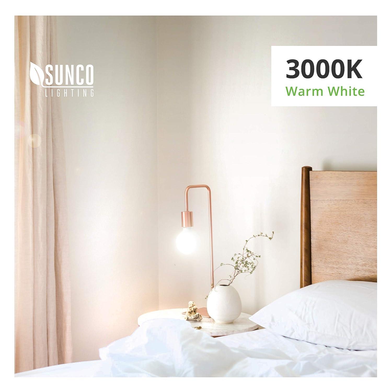 E26 Base 5000K Daylight Lamps 6W=40W Sunco Lighting 12 Pack G25 LED Globe Light Fixtures Dimmable Omnidirection Bulb for Vanities UL /& Energy Star