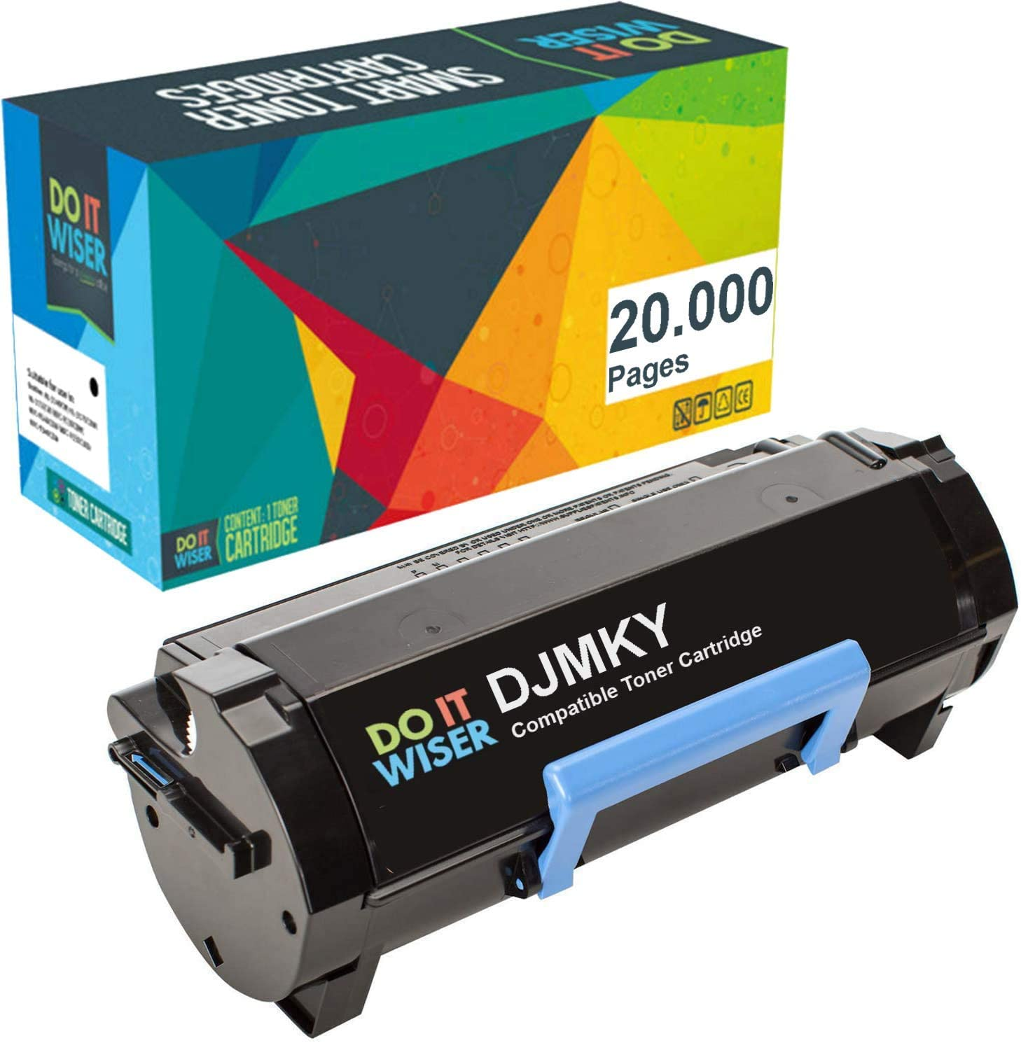Do it Wiser Compatible Toner Cartridge Replacement for Dell DJMKY 9GG2G B3460dn B3465dn B3465dnf MFP Printers - 332-0373 (20,000 Pages Extra High Yield, Black)