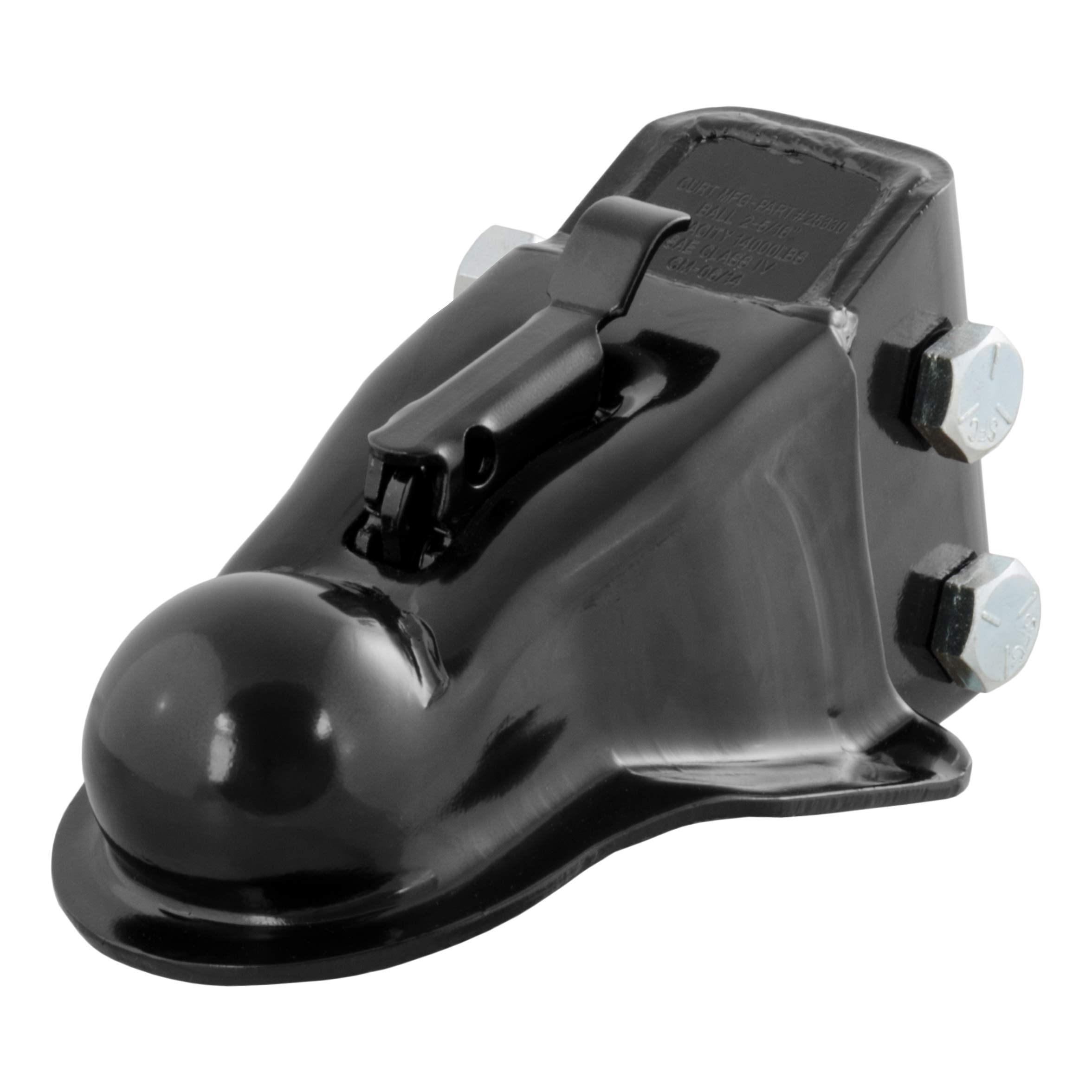 CURT 25330 Channel-Mount Adjustable Trailer Coupler Accepts 2-5/16-Inch Hitch Ball, 14,000 lbs by CURT