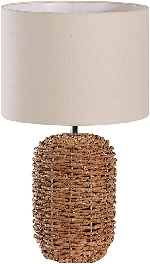 Maritime Tischlampe NATURE 47cm Handarbeit Tischleuchte Nachttischlampe